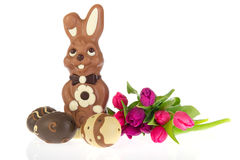 Chocolate easter hare Stock Photo