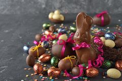 Chocolate Easter sweets royalty free stock photos