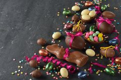 Chocolate Easter sweets royalty free stock photo