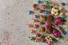 Chocolate Easter sweets stock photo
