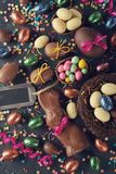 Chocolate Easter sweets stock photos