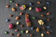 Chocolate Easter sweets royalty free stock images