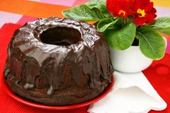 Chocolate eastern cake Royalty Free Stock Photos