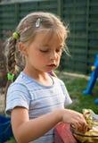 chocolate eating girl Стоковые Фото