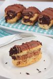 Chocolate eclair Stock Images