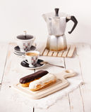 Chocolate eclairs Royalty Free Stock Photography