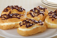 Chocolate Eclairs Stock Photo