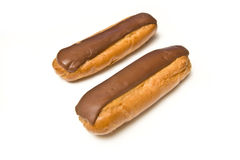 Chocolate eclairs Royalty Free Stock Photos