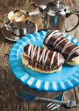 Chocolate eclairs. Royalty Free Stock Photography