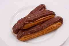 Chocolate eclairs Stock Photography