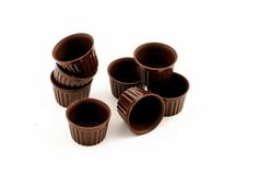 Chocolate edible cup Stock Photo