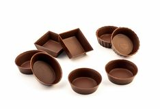 Chocolate edible molds Stock Photos