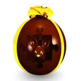 Chocolate egg Royalty Free Stock Photos