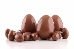 Chocolate egg Stock Image