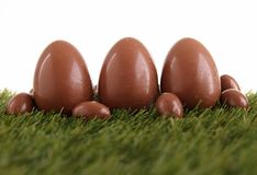 Chocolate egg Royalty Free Stock Image