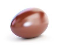 Chocolate egg. On white background Royalty Free Stock Photo