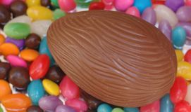 Chocolate egg. An easter theme Stock Image