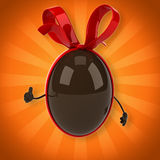 Chocolate egg Royalty Free Stock Image