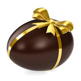 Chocolate Egg. Isolated on white Stock Photo