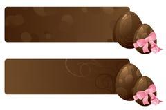 Chocolate Egg Banners Stock Photos