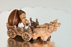 Chocolate egg delivery Stock Photo