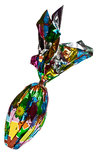 Chocolate egg in foil. Chocolate easter egg covered in decorative foil Royalty Free Stock Photo