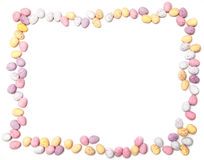 Chocolate egg frame Royalty Free Stock Image