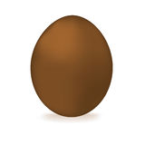 Chocolate  egg. Isolated on a white background Stock Photo