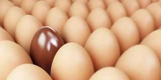 Chocolate egg Stock Photo
