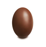 Chocolate egg on white background Stock Image