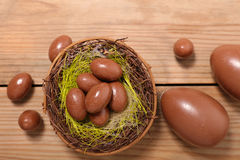 Chocolate egg Stock Images