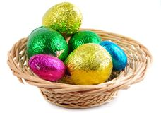 Chocolate eggs Stock Photography