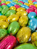 Chocolate eggs. Traditional Easter sweet Royalty Free Stock Images