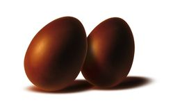 Chocolate eggs. Eastern chocolate eggs royalty free stock image