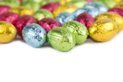 Chocolate eggs border Stock Photography