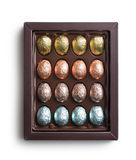Chocolate eggs in box Royalty Free Stock Images