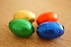 Chocolate eggs Stock Photos