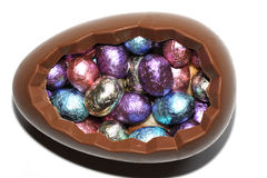 Chocolate eggs at Easter Royalty Free Stock Image