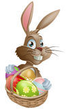 Chocolate eggs Easter bunny Royalty Free Stock Image