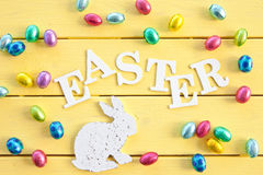 Chocolate eggs for easter Royalty Free Stock Photography