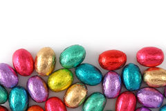 Chocolate eggs in foil Royalty Free Stock Image