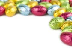 Chocolate eggs frame Stock Photography