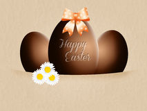 Chocolate eggs Stock Images