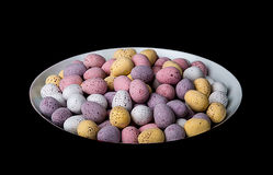 Chocolate Eggs. Image of small chocolate eggs in a bowl Royalty Free Stock Photos