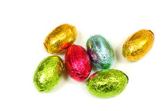 Chocolate eggs isolated Royalty Free Stock Image