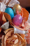 Chocolate eggs and still life Royalty Free Stock Photography