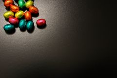 Chocolate Eggs A Traditional Easter Sweet. Royalty Free Stock Photo