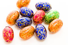 Chocolate eggs Stock Photos