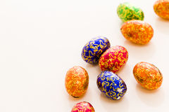 Chocolate eggs Royalty Free Stock Photos