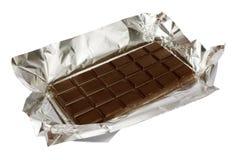 Chocolate em uma folha Foto de Stock
